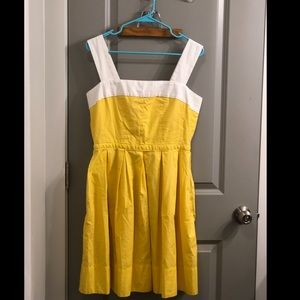 Yellow Fit & Flare Dress w/ pockets